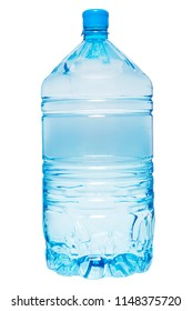 Big bottle of water isolated on white background.