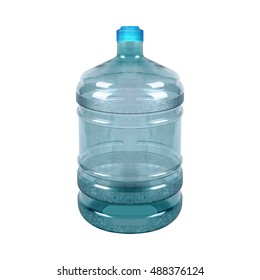Big bottle of water isolated on a white