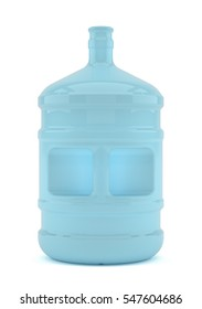 Big bottle of water isolated on a white background. 3D illustration