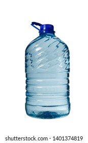 Big bottle of water isolated, white background, Five liters.