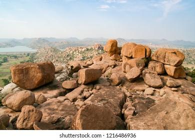 Big boulders at Hampi India