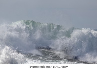 Big breaking wave. North of Portugal.