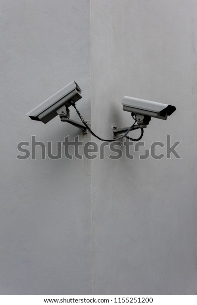 Security surveillance cameras isolated stock photo download.