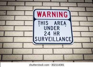 Big Brother Is Watching. Warning sign for would be intruders and those who desire privacy.