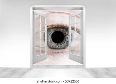 Big Brother is watching you. Conceptual image. Hidden cameras concept.