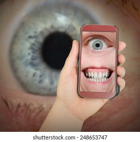Big Brother is watching you. Internet safety concept.