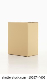 Big brown box piled up isolated on white