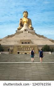 Big Buddha at Fo Guang Shan Buddha in Kaohsiung in Taiwan
