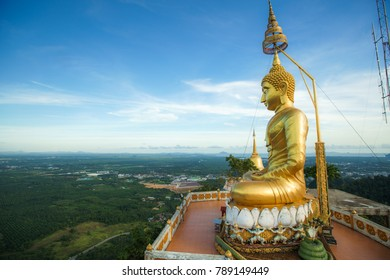 Big Buddha Image on the high mountain over the beautiful view