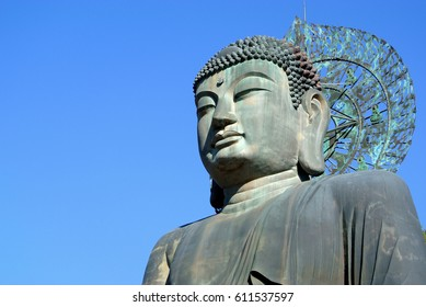 Big Buddha Monument statue sculpture of Sinheungsa Temple in Seoraksan National Park, Sokcho, South Korea