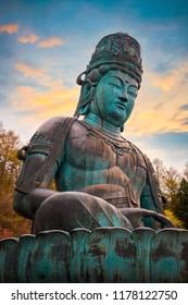 The Big Buddha - Showa Daibutsu at Seiryuji Temple in Aomori, Japan