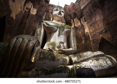 Big Buddha in Srichum temple, Sukhothai, Thailand.