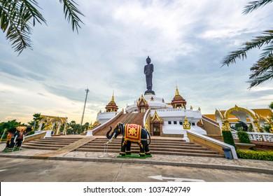 Big Buddha statue. Beautiful temple in Lopburi, Thailand