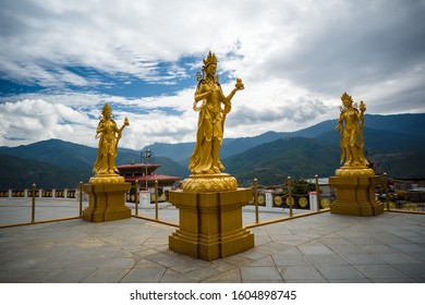 Big Buddha statue in Bhutan Himalayas mountain