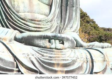 Big Buddha statue meditation filed in Park