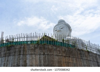 Big Buddha statue on the mountain Phuket Thailand