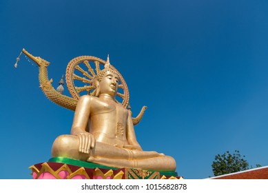 Big buddha statue (Phra Yai) on koh samui, thailand,