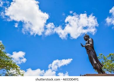 Big Buddha statue with sky - Shutterstock ID 465330491