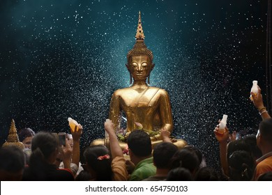 Big Buddha statue in Thailand, beautiful statue, Buddhist are praying and worship for lucky and holy