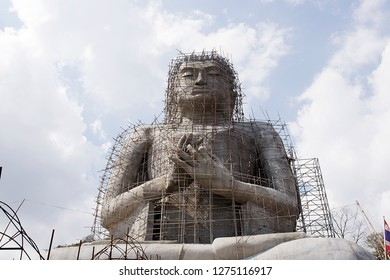 Big Buddha Statue Under Construction On the hill