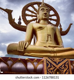 Big Buddha statue at Wat Phra Yai, Koh Samui, Thailand