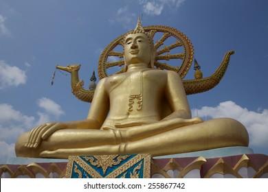Big Buddha statue of the Wat Phra Yai temple, Ko Samui, Thailand