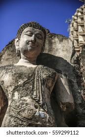 Big buddha stone statues, Sukhothai Province Thailand