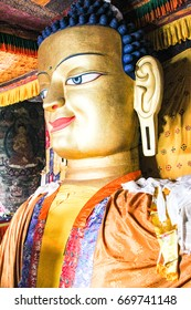 The big Buddha in Thiksey monastery in Leh Ladakh, India.