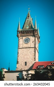 Big building of Chapel Tower in Prague
