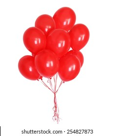 big bunch of balloons, isolated on white background