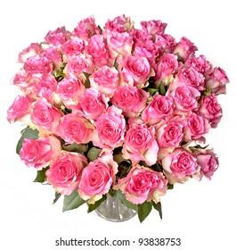 big bunch of rose roses