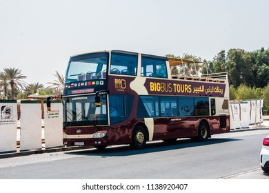 BIG BUS, DUBAI, UAE-20th SEPTEMBER 2017:-The big bus is a hop on hop off service to see the major tourist sights around Dubai