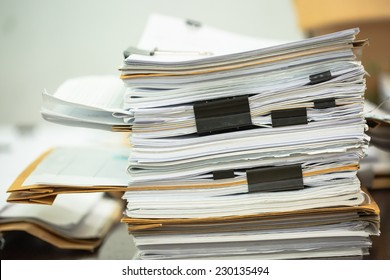 Big business paper pile