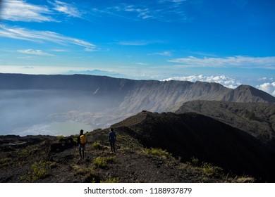 the big caldera from tambora mountain