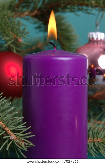 Big candle and decoration