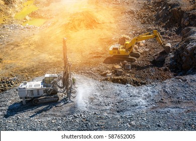 Big car mining working on site.