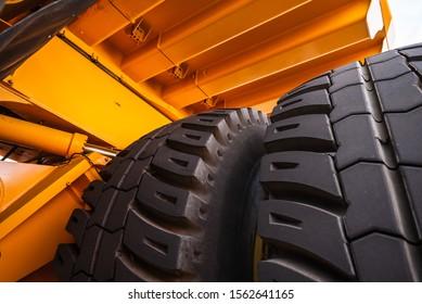big car wheel, truck tire