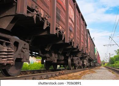 Big cargo transportation in tanks by rail