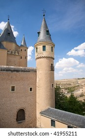 big castle at segovia city in spain