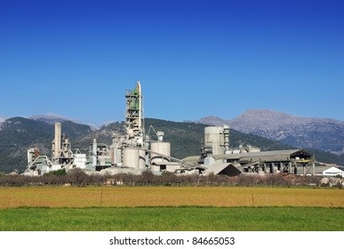 Big Cement Factory in Majorca (Balearic Islands - Spain)