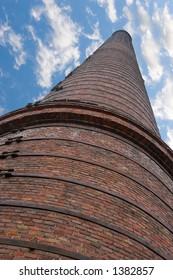 big chimney stalk on sky background