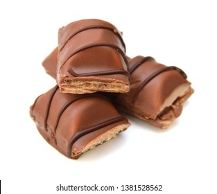 Big chocolate candy on a white background