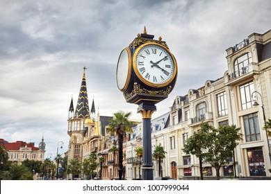 Big Clock at Europe Square in Batumi, Georgia