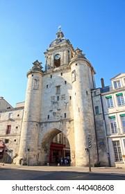 The big clock from La Rochelle (Charente Maritime, France) Entry in La Rochelle by the Big Clock