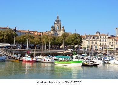 The Big Clock of La Rochelle, a view of the sea (Charente Maritime France)  La Rochelle and the Big Clock, views of the Atlantic Ocean (France)