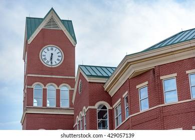 Big Clock on City Hall in downtown Cumming Georgia