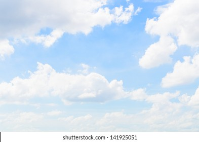 Big cloud with the bluesky