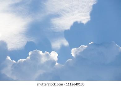 Big cloud on blue day sky