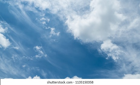big cloud on the blue sky background