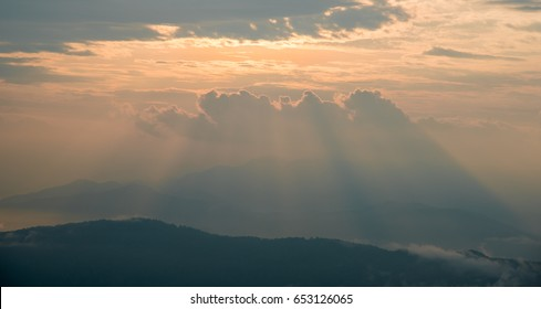 Big cloud at sunrise